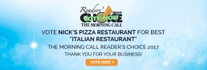 nick's pizza readers choice