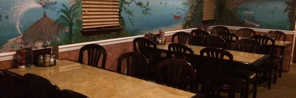 Interior Of Nick S Pizza Restaurant With A Family Friendly Atmosphere