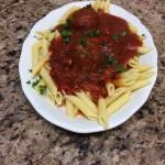 Italian pasta with marinara sauce