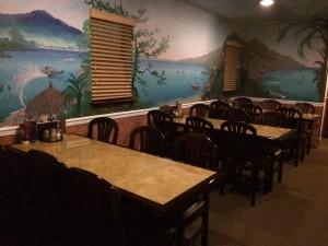 Interior dining area at Nick's Pizza Restaurant